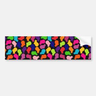 Retro BeeHive Confetti Bumper Sticker