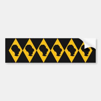 Retro BeeHive Diamond Cameo Bumper Sticker