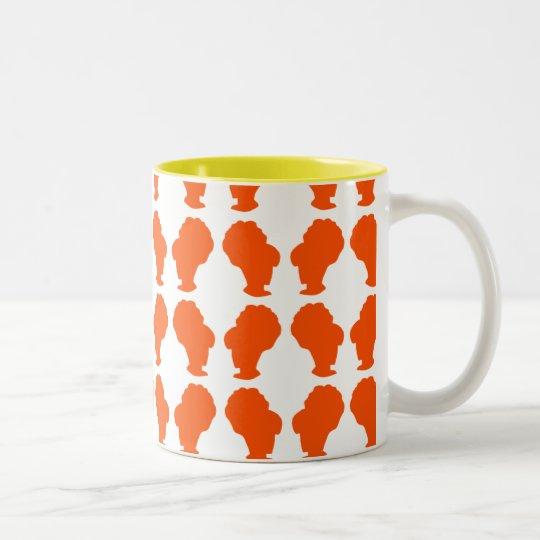 Retro BeeHive Silhouette Two-Tone Coffee Mug