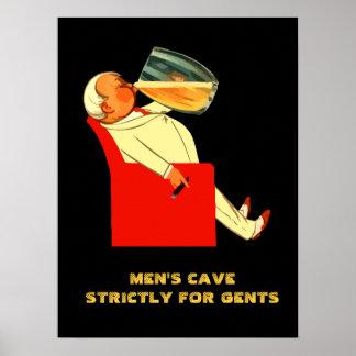 Retro beer customizable men's cave poster