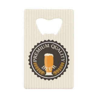 Retro Beer Label with Your Name Credit Card Bottle Opener