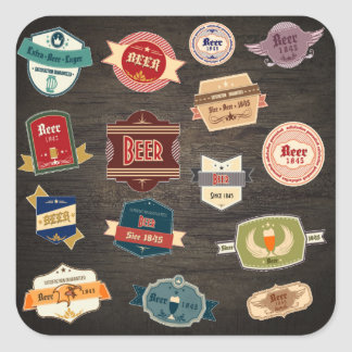 Retro Beer Labels Collage