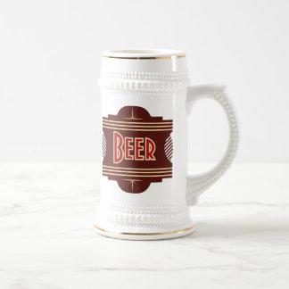 Retro Beer Logo Stein Coffee Mugs