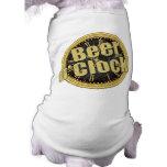 Retro Beer O'Clock Gift Dog Tee