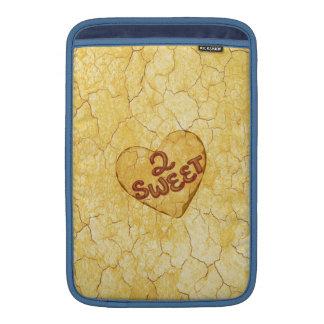 Retro Beige Cream Pattern. 2 Sweet Message MacBook Sleeves