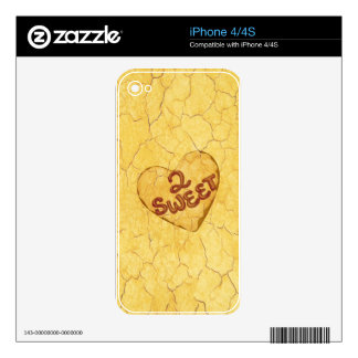 Retro Beige Cream Pattern. 2 Sweet Message Decals For The iPhone 4