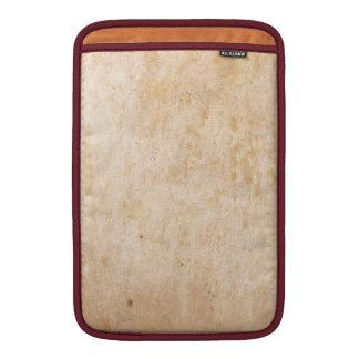 Retro Beige Grunge Pattern MacBook Air Sleeves