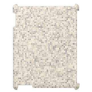 Retro Beige Mosaic Tile Pattern iPad Covers