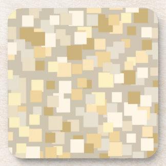 Retro Beige Squares Coasters