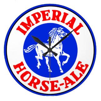 Retro Belgian beer logo Imperial Horse Ale Large Clock