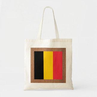 Retro Belgium Flag Budget Tote Bag