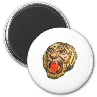 Retro Bengal Tiger Magnet