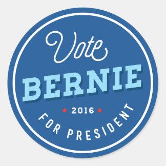 Retro Bernie Classic Round Sticker