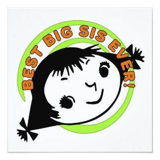 Retro Best Big Sister Ever Invitation