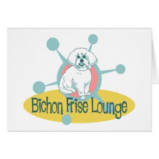 Retro Bichon Frise Lounge Greeting Card