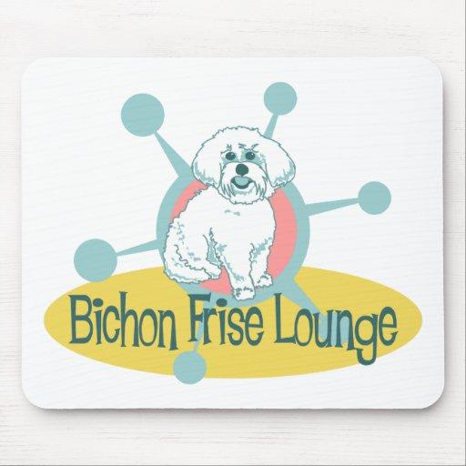 Retro Bichon Frise Lounge Mouse Pad