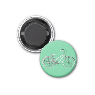 retro bicycle 1 inch round magnet