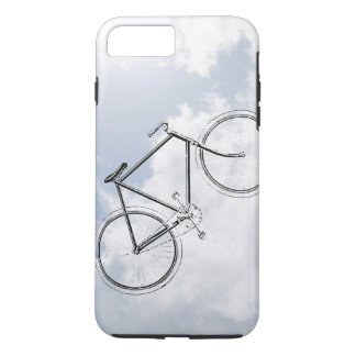 Retro Bicycle Bike in the Sky with Clouds Design iPhone 8 Plus/7 Plus Case