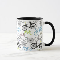 Retro Bicycle Bike Pattern Mug
