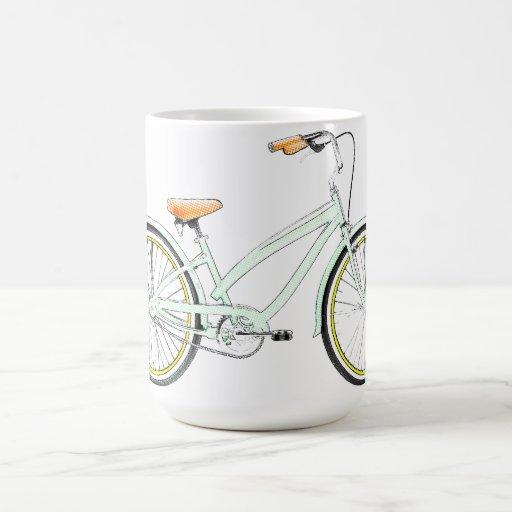 retro bicycle coffee mug