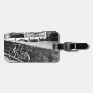 Retro Bicycle in the city of Florence, Italy Tag For Luggage
