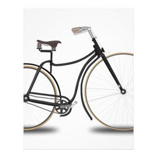 Retro bicycle letterhead