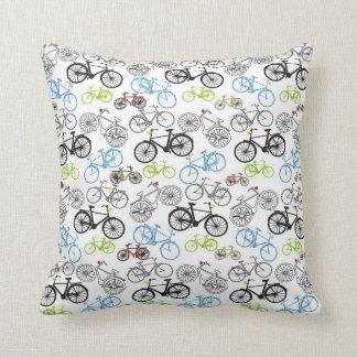 Retro Bicycle Pattern Throw Pillow