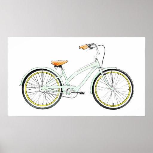 retro bicycle poster