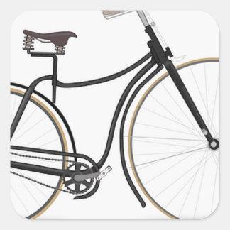 Retro bicycle square sticker