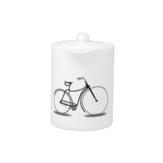 Retro bicycle Tea Pot