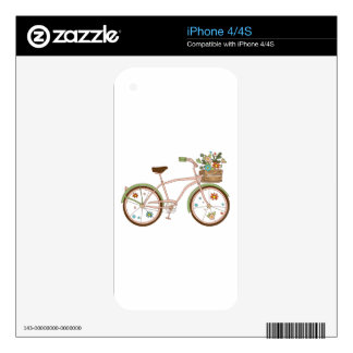 Retro bicycle with karzinkoy for flowers iPhone 4S decals