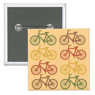Retro Bicycles 2 Inch Square Button