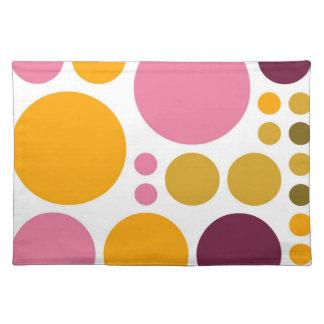 Retro Big Polka Dots   Abstract Art Cloth Place Mat