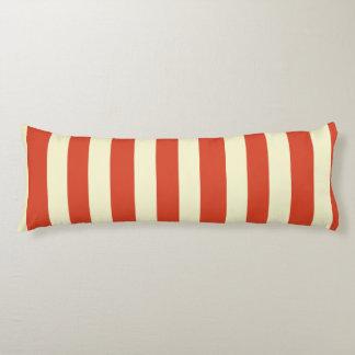 Retro Big Top Striped Body Pillow