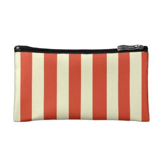 Retro Big Top Striped Cosmetic Bag