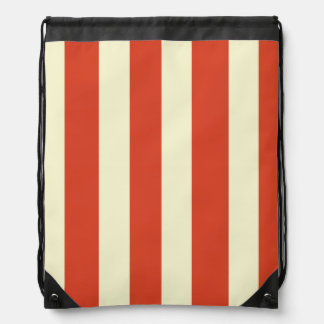 Retro Big Top Striped Drawstring Backpack