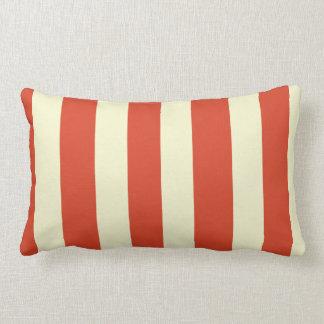 Retro Big Top Striped Lumbar Pillow