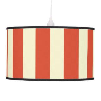 Retro Big Top Striped Pendant Lamp