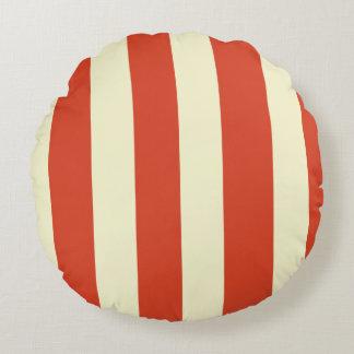 Retro Big Top Striped Round Pillow