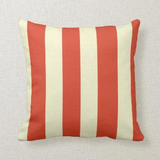 Retro Big Top Striped Throw Pillow