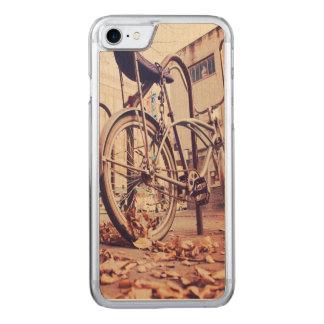 Retro bike carved iPhone 8/7 case