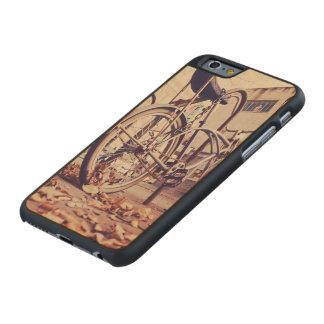 Retro bike carved maple iPhone 6 slim case