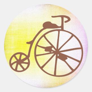 Retro Bike Classic Round Sticker