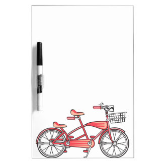 Retro Bike For Two Dry Erase Board
