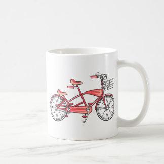 Retro Bike For Two Classic White Coffee Mug