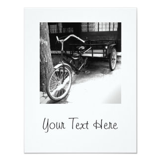 Retro bike 4.25x5.5 paper invitation card
