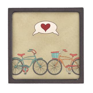 Retro Bike Love Keepsake Box