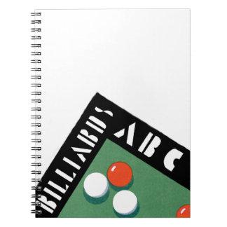 Retro Billiards Spiral Notebook
