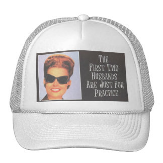 RETRO BIMBO First Two Husbands are Practice Trucker Hats