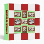 RETRO Binder Appliance Manual Organize Red Seafoam